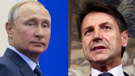 Critique des sanctions antirusses, l'italien Giuseppe Conte rencontre Vladimir Poutine