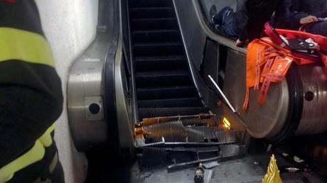 Rome : une vingtaine de blessés dans un terrible accident d'escalator dans le métro (VIDEO)
