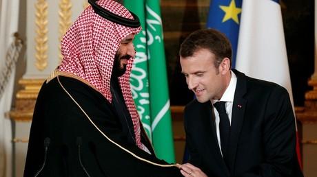 Le prince héritier saoudien Mohammed ben Salmane et le président français Emmanuel Macron (image d'illustration).