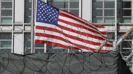 L'enceinte de l'ambassade des Etats-Unis à Moscou.
