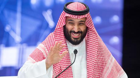 Le prince héritier saoudien Mohammed ben Salmane lors du forum international d'investissement à Riyad, le 24 octobre 2018.