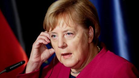 La chancelière allemande Angela Merkel à Prague le 26 octobre 2018.
