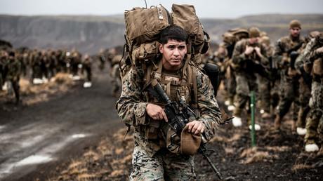 Des marines américains participent à l'exercice militaire Trident Juncture 2018 de l'OTAN en Islande le 19 octobre 2018 (image d'illustration).