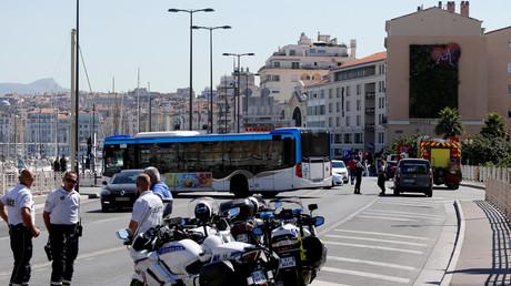 Policiers en faction dans le port de Marseille (image d'illustration).