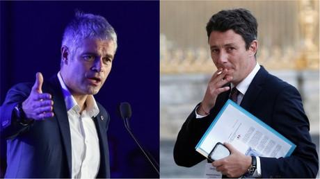 Collage photo : Laurent Wauquiez (à gauche) et Benjamin Griveaux (à droite).