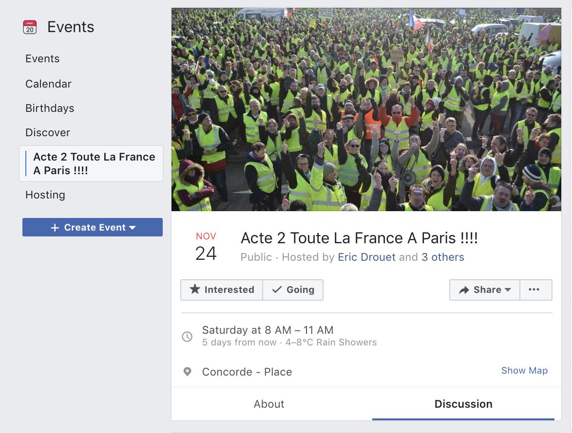 «Acte 2» : les «gilets jaunes» prévoient de converger vers Paris le 24 novembre