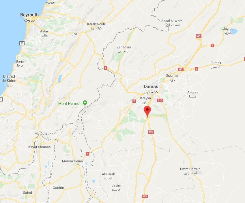 Syrie : Bombardements au sud de Damas imputés à Israël