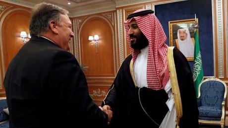 Le secrétaire d'Etat américain Mike Pompeo et le prince héritier saoudien Mohammed ben Salmane (image d'illustration).