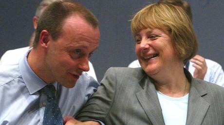 Angela Merkel et Friedrich Merz en 2002.
