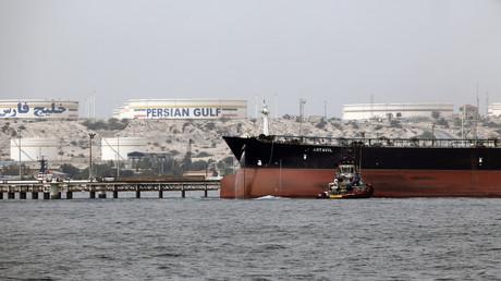 Un pétrolier iranien en rade de l'île de Khark, en Iran, en 2017 (Image d'illustration).