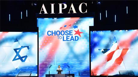 L'ambassadrice des États-Unis auprès des Nations Unies, Nikki Haley, prend la parole lors de la conférence de l'AIPAC à Washington, le 5 mars 2018.