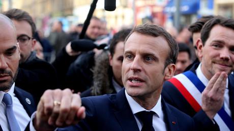 Le président Emmanuel Macron à Charleville-Mézières, durant son périple mémoriel, à Charleville-Mézières le 7 novembre 2018.