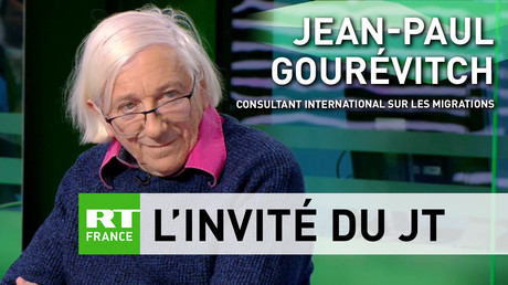 Jean-Paul Gourévitch sur le plateau de RT France.