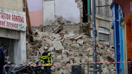 Les deux immeubles qui se sont écroulés à Marseille, le 5 novembre.