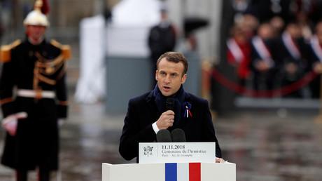 Emmanuel Macron le 11 novembre 2018.