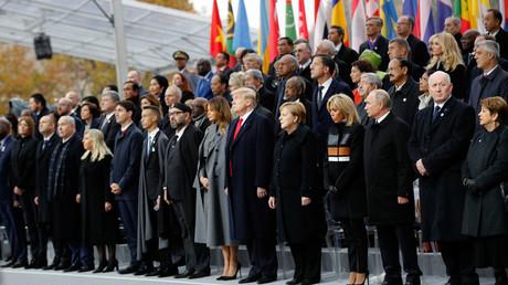 Cérémonie du 11 Novembre à Paris.