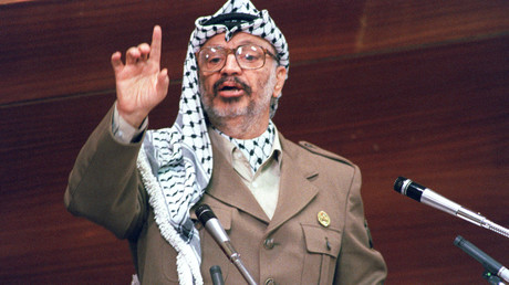 Yasser Arafat, dirigeant de l'Organisation de libération de la Palestine