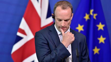 Le ministre du Brexit Dominic Raab, ici en août 2018, a démissionné du gouvernement de Theresa May.