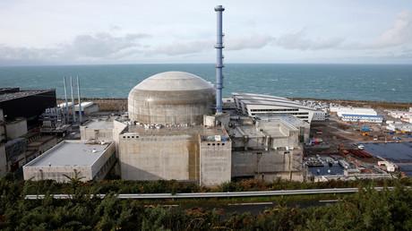 Le réacteur de troisième génération EPR de Flamanville (Normandie) en construction, en 2016.