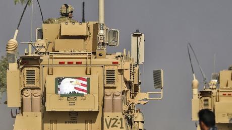 Un véhicule des forces armées américaines près de Mossoul en Irak, en octobre 2016 (image d'illustration).