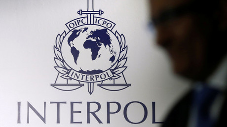 Le logo d'Interpol.