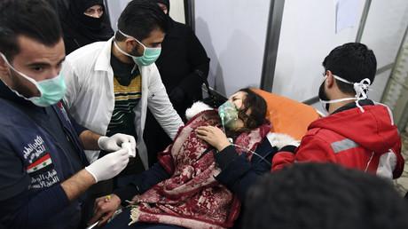 Une femme syrienne soignée dans un hôpital à Alep, le 24 novembre 2018.