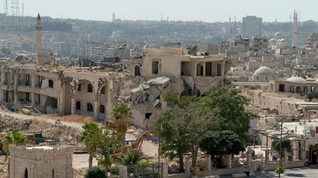 Vue générale d'Alep, le 16 août 2018.