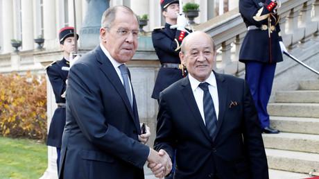Sergueï Lavrov rencontre Jean-Yves Le Drian dans le cadre du dialogue du Trianon