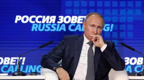 Vladimir Poutine s'exprime lors d'un forum financier à Moscou, le 28 novembre.