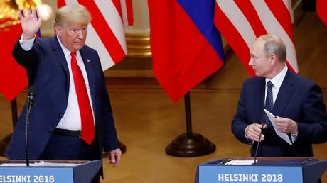 Donald Trump et Vladimir Poutine à Helsinki début novembre 2018.
