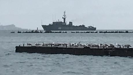 Navire russe près de Kertch.