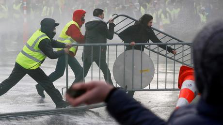 Affrontements dans le centre-ville de Bruxelles, le 30 novembre 2018.