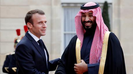 Emmanuel Macron et Mohammed ben Salmane, ici en avril 2018.