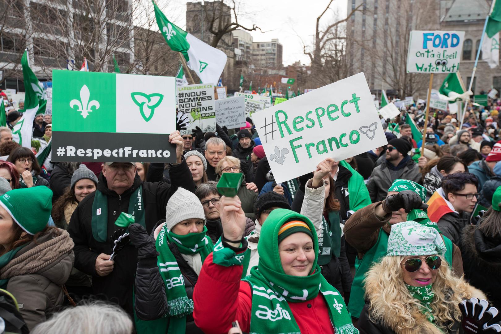 La langue française en recul dans l'Ontario — Canada