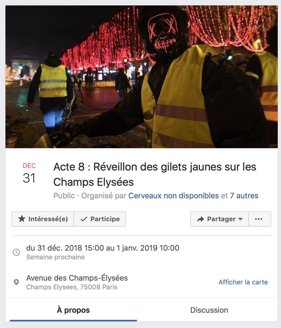 Noël, Nouvel an : les Gilets jaunes passeront-ils les fêtes sur les Champs-Elysées ?