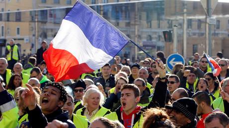 Manifestation des Gilets jaunes à Marseille le 1er décembre 2018.
