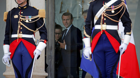 Emmanuel Macron, dans le palais de l'Elysée, en juin 2018 (image d'illustration).