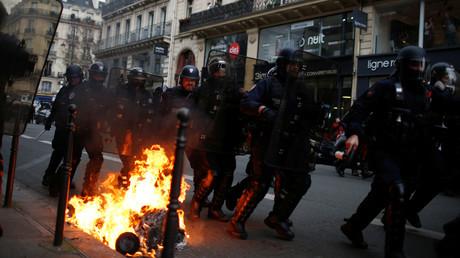 De nombreux affrontements ont eu lieu à Paris le 8 décembre