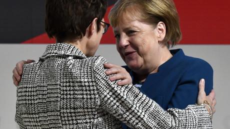 AKK et Angela Merkel.