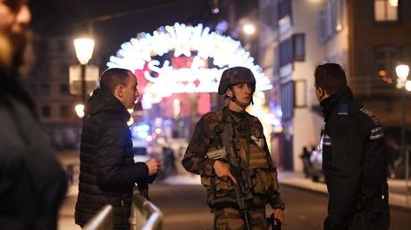 Rues de Strasbourg après l'attaque.