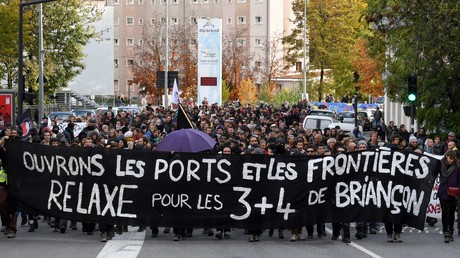 Des manifestants soutiennent les «sept de Briançon» à Gap en novembre 2018 (image d'illustration).