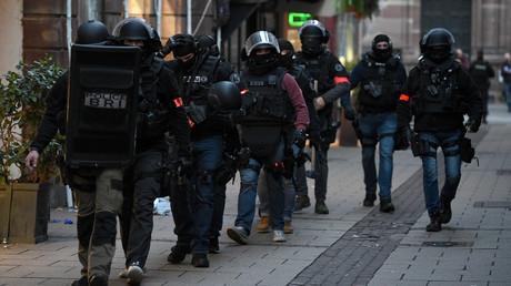 La BRI en opération dans les rues du centre de Strasbourg, le 12 décembre 2018.