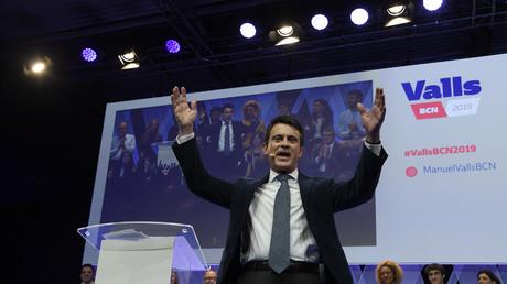 Manuel Valls, ancien Premier ministre français et candidat au poste de prochain maire de Barcelone, lors de la présentation de sa campagne à Barcelone le 13 décembre 2018.