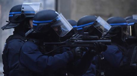 Une brigade de la police anti-émeute se déploie à Bordeaux, le 15 décembre 2018 (image d'illustration).