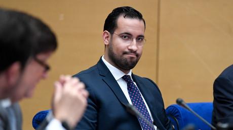 Alexandre Benalla devant la commission d'enquête du Sénat le 19 septembre 2018.