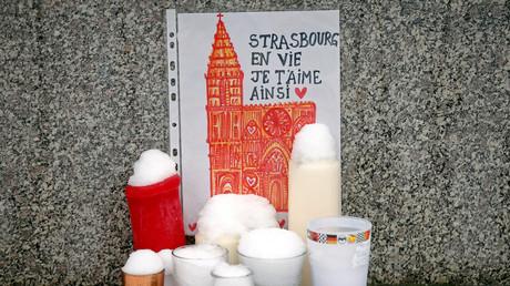 Un mémorial improvisé pour les victimes à Strasbourg sur les lieux de l'attentat (image d'illustration).