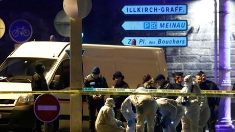 Les enquêteurs sur les lieux de l'attentat de Strasbourg (image d'illustration).