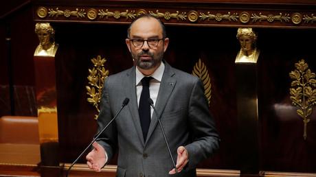 Le Premier ministre français Edouard Philippe lors du débat sur la motion de censure du gouvernement défendue par les députés de gauche à l'Assemblée nationale à Paris, le 13 décembre 2018.