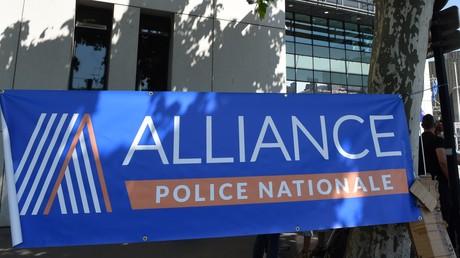 Des membres du syndicat Alliance Police Nationale le 22 mai 2018 (image d'illustration).