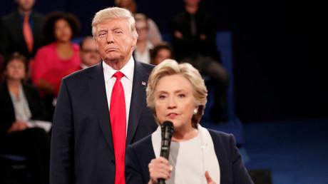 Donald Trump et Hillary Clinton lors d'un débat, le 9 octobre 2016.